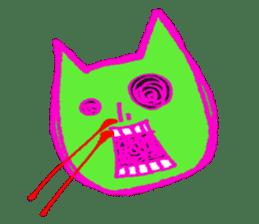 skull cat sticker #589197
