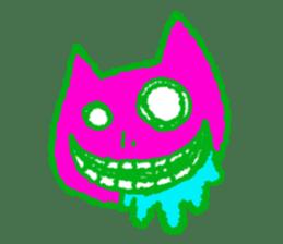 skull cat sticker #589199