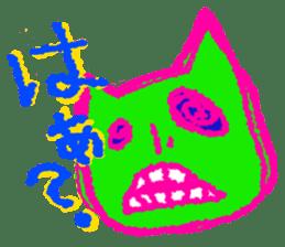 skull cat sticker #589201