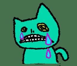 skull cat sticker #589202