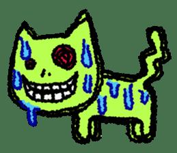 skull cat sticker #589203