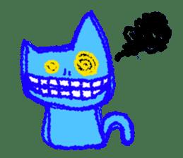 skull cat sticker #589204