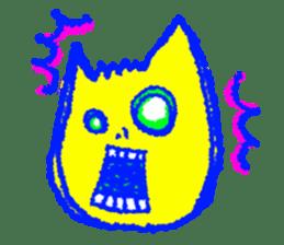 skull cat sticker #589208