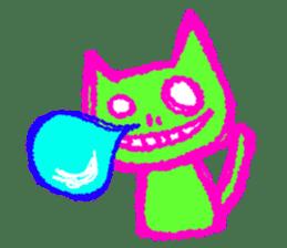 skull cat sticker #589209