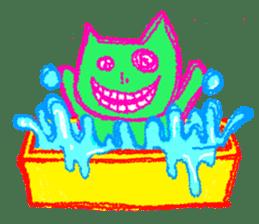 skull cat sticker #589210