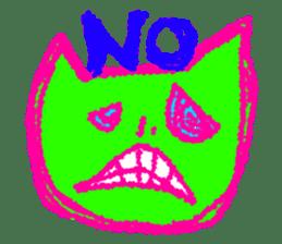 skull cat sticker #589212