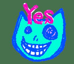 skull cat sticker #589213