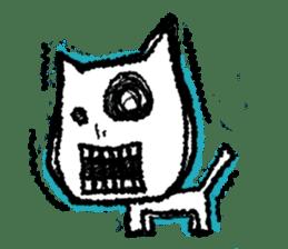 skull cat sticker #589215