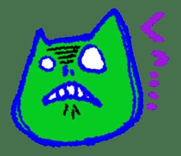 skull cat sticker #589216