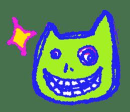 skull cat sticker #589218