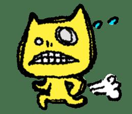 skull cat sticker #589221