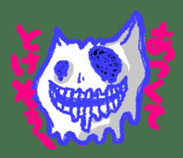 skull cat sticker #589225