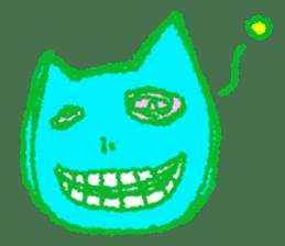 skull cat sticker #589232