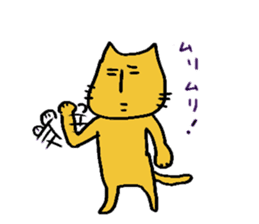 Charlie a middle aged cat sticker #590130