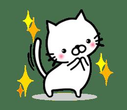 Striped cat & white cat sticker #590566