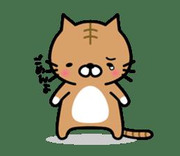 Striped cat & white cat sticker #590569