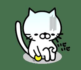 Striped cat & white cat sticker #590579