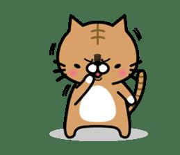 Striped cat & white cat sticker #590585