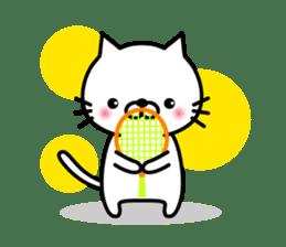 Striped cat & white cat sticker #590587