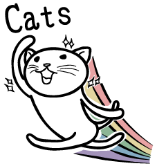the simple sticker of cats