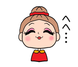 girl bun head sticker #590957