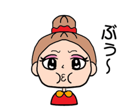 girl bun head sticker #590963