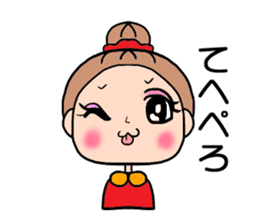 girl bun head sticker #590971