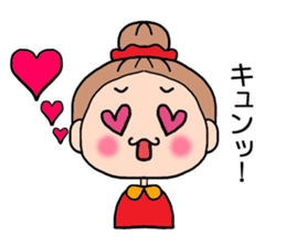 girl bun head sticker #590986