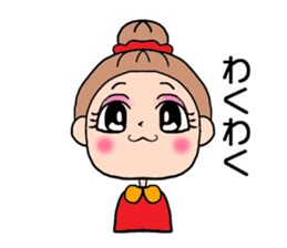 girl bun head sticker #590987