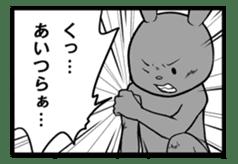 Rabbit, chick and Manga sticker #592394