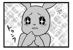 Rabbit, chick and Manga sticker #592395