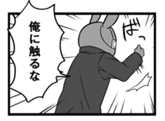 Rabbit, chick and Manga sticker #592396