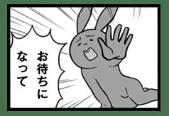 Rabbit, chick and Manga sticker #592397
