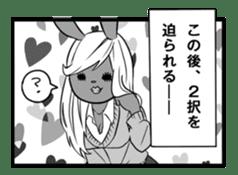 Rabbit, chick and Manga sticker #592399