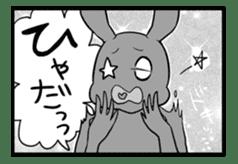 Rabbit, chick and Manga sticker #592402