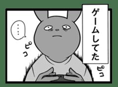 Rabbit, chick and Manga sticker #592406