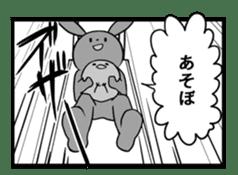 Rabbit, chick and Manga sticker #592407