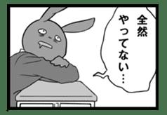 Rabbit, chick and Manga sticker #592409