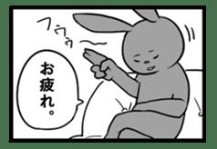 Rabbit, chick and Manga sticker #592412