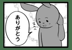 Rabbit, chick and Manga sticker #592415