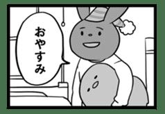 Rabbit, chick and Manga sticker #592422