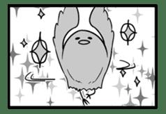 Rabbit, chick and Manga sticker #592423