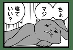 Rabbit, chick and Manga sticker #592427