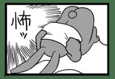 Rabbit, chick and Manga sticker #592430