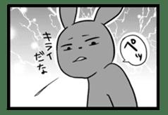 Rabbit, chick and Manga sticker #592433