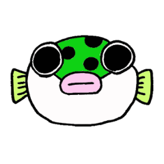 Green spotted puffer Tetsuchan