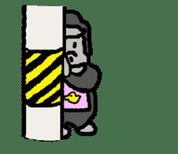 The overprotective gorilla sticker #593650
