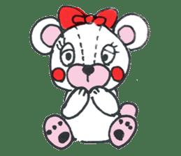 white bear sticker #594074