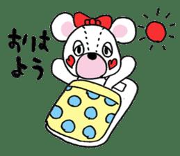 white bear sticker #594075