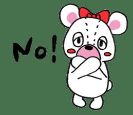 white bear sticker #594077